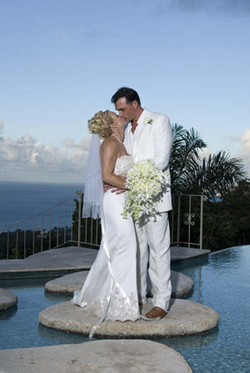 Bride and Groom married at Silent Waters Villa