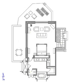Floor Plan Guest Suite 3